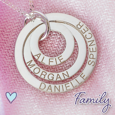 Personalized Family Pendants & Jewelry