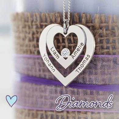 Personalized Diamond Pendants